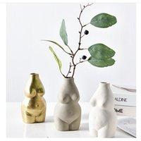 جديد الإناث الجسم فن زهرية الحلي السيراميك الحديثة الحد الأدنى الإبداعية الديكور أواني الزهور الترتيب 210409