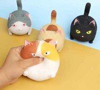 Grande tamaño fidget juguetes cara enojado gato juguete creativo artefacto ventilación exprimir gato descompresión regalo