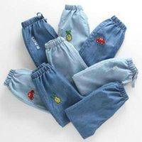 Jeans bébé jean bébé vêtementsKids pantalons de dessin animé pantalon filles filles taille enfants garçons trou enfants denim pantalons