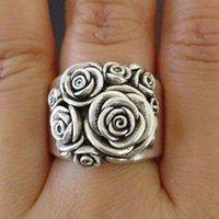 Bloem 925 zilveren ringen voor vrouwen sieraden partij ringen maat 5-11