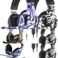Stereo Deep Bass with Microphone For PS4 XBOX Camouflage ONE Computer Switch Game Player Headphones Mobile Phone Gaming Headset DHL2021i