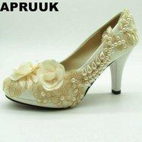 EST Weddig Shoes Women Champagne Flowers Femmina Signore Lacci Party Pompe di nozze DS001 in stock Abito