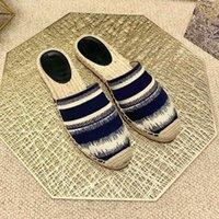 2021 럭셔리 디자이너 Espadrilles 여성 신발 여름 봄 플랫폼 믹스 컬러 로퍼 여자 캔버스 문자 아픈 솔 샌들 폐쇄 발가락 슬리퍼 EUR35-41 상자
