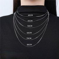 Содров S925 стерлинговые серебряные серебряные цепи длинный свитер ожерелья ожерелье цепи