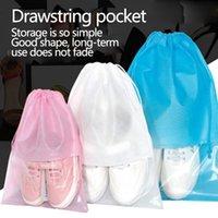 Storage Bags Blank Non-woven Slipper Drawstring Pocket Transparent Sandal Bag Dustproof Packaging Bag, Household Convenient Convenien