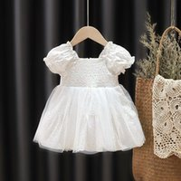 Girl's Dresses Toddler Girls Princess Dress Kids Clothes Heart Floral Mesh For Party Birthday Wedding Short Puff Sleeve Baby Outfit