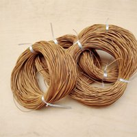 5 Meter Natural Color Real Genuine Leather Cord Round Rope String For DIY Necklace Bracelet Jewelry Cord Dia 1/1.5/2/3mm 1954 Q2