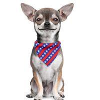 День независимости одежды для собак ПЭТ Бандана Треугольник Шарф для кошек S Костюм Головной убор Бабочка Галстук Украшения Домашние животные Поставки Ruzr