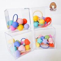 Hair Accessories 10pcs Lot Gift Box Packed Girls Cute Cartoon Elastic Bands Headwear Scrunchies Rubber Headbands