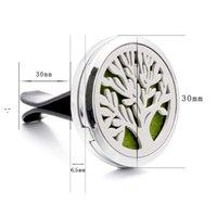 Aromaterapi Hem Essential Oljediffusor för bil Air Freshener Parfymflaska Locket Clip med 10st tvättbara filtar Pads Owe9906