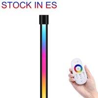 ES Stock Corner 바닥 램프 참신 조명 노르딕 장식 거실 밤 조명 디밍 서 침실 장식 빛, RGB 원격 제어