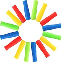 6 cores canudos de aço inoxidável manga de silicone 4cm multicolor diâmetro interno 6mm luva de silicone anti colisão gwc7229