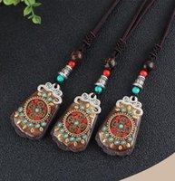 الهند المجوهرات الأصلية مصنوعة يدويا نيبال الصليب مدقق السلام العلامة التجارية الغريبة نمط قلادة طويلة الاكسسوارات العرقية قلادة القلائد