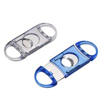 Hard Plastic And Metal Cigar Cutter Cutters Portable Round Head 2 Colors Optional Accessories Smoking Tool BBB9092