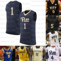 맞춤형 피츠버그 팬더 농구 유니폼 0 에릭 해밀턴 1 Xavier Johnson 2 Trey McGowens 4 Gerald Drumgoole Jr.