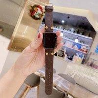 Top Designer Strap Gift Watchbands for Apple Watch Band 42mm 38mm 40mm 44mm iwatch 1 2 3 4 5 6 7 bandas pulseira de couro pulseira l Pulseira de impressão