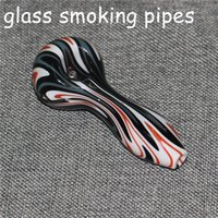 4 inches Glass Oil Burner Pipe Pyrex Spoon Hand Tobacco Pipes For Smoking Accessories Silicone dab rigs