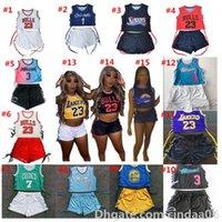 Womens Trainingsanzüge Zwei Teile Shorts und ein Kleid Outfits Basketball Sportswear Digital- und Brief drucken Casual Fitness-Kleidung