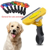 Pet Cat Grooming Medium and Large Dog Flea Comb, Stainless Steel Cutter Head Trimmer, Hair Removal Brush Supplies