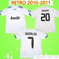 2010 2011 Gerçek Madrid Retro Futbol Formaları 10/11 Vintage Futbol Gömlek Üst Üniforma Ronaldo Higuain Benzema Kaka Pepe Sergio Ramos Klasik Camiseta