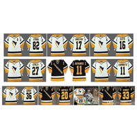RA Retro Pittsburgh Penguins Jerseys 11 Darius Kasparitis 82 Straka 17 Sandstrom Ed Olczyk Kovalev Barnaby 20 Robitaille 33 Mcsorley Hóquei