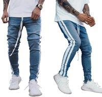 High Street Craft Herren Jeans Männer Casual Slim Fit Denim Hosen Point Bleichen Gerade Stretch Hosen Wieh Strip