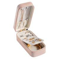 새로운 한국식 캔디 컬러 휴대용 직사각형 jewlery 상자 스터드 귀걸이 목걸이 쥬얼리 보관함