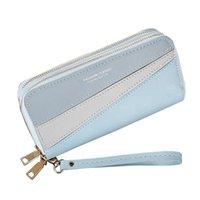 Wallets Fashion Long Women Leather Wristlet Handbags Money Bag Zipper Phone Coin Purse Female Card Holder