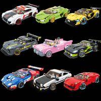 QUANAN 2021 NEUE 8-GRID Racing Car Series Baustein Modell Jungen Geschenkspielzeug