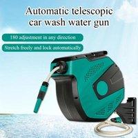 Automatic Recycling Watering Car Washing Water Hose Villa Garden Gardening Storage Rack Reel Tool Washer