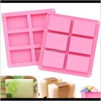 Baking Moulds Bakeware Kitchen, Dining Bar Home & Garden Drop Delivery 2021 Pudding Candy 6 Cavity Square Sile Supplies Craft Soap Mould Deco