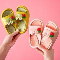 2021 Sommerkinder Hausschuhe für Baby Kleinkind Mädchen Flip Flops Cartoons Kinder Strandschuhe Jungen Indoor Schuhe Haus Kind Hausschuhe