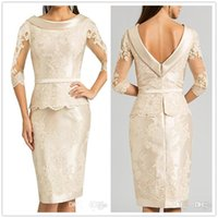 Lace Mother's Dresses Formal Wear Applique 3 4 Long Sleeve Jumpsuits Mother of the Bride Dress Wedding Guest Gowns Mothers Groom