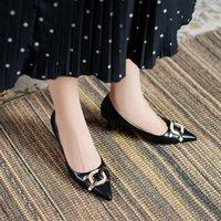 Обувь платья 2021 HKXN Высокие каблуки Женщины Насосы Наземные Новые Дамы Кристалл Свадьба и сандалии