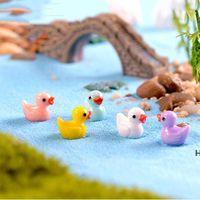 Decorazioni da giardino Anatre del fumetto Ducks Hard Resin Dutra Dutra Charms Stampo per il giardinaggio Decor Moss Miniture HWB6843