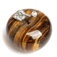 Tiger Eye Crystal Apple Figurine Cartogurine Decorazione artigianale avg.1.77inches