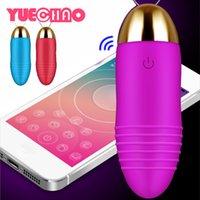 Android iOS Smart Phone App Vibrator Bluetooth Sex Wireless Toy Kegel Telecomando Mini Bella Bello Salto Egg Sex Products Massager Y0408