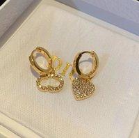 Moda Marka Aşk Kalp Dangle Küpe Kadınlar Klasik Hoop Daire Küpe Eardrop Bague Kadın Lady Parti Gelin Düğün Hediye Kutusu Ile Lüks Tasarımcı Takı