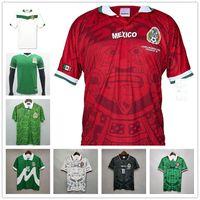 2006 Мексика Ретро Футбол Джетки Rafael Marquez Home All Your 1986 1994 1995 1998 2010 Кубок чемпионата мира Футбольная форма Футформата с длинным рукавом Урожай Бланко Черная Камиссета