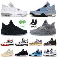 nike air jordan retro 4 4s sail off white Voile 4 4S Chaussures de basketball rétro 2021 Nouvelle Arrivée Jumpman pour Mens Womens Hot Punch Tour Jaune Entraîneurs Sneakers 36-47