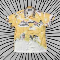 Amir i Street fashion US amiry leisure hip hop high street ink landscape cool silk short sleeve shirt DBJ1