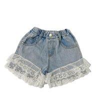 Mädchen Shorts Kinder Sommer Baby Kleidung Spitze Denim Jeans Kinder Hosen Kinderbekleidung B5921