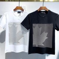 2021 Moda Icon Designer Erkek Kadın T Gömlek # DT036 Kapalı Yaz Klasik Akçaağaç Yaprak Tees Essentials Beyaz Harfler Baskı Rahat Giyim
