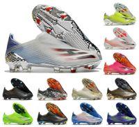 2021 x Ghosted FG Soccer Shoes Showpiece Precisão para Borrão Mens Slip-on Futebol 20 + X Botas Greats Tamanho US6.5-11