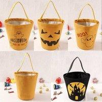 Cadılar bayramı tuval kova çanta karikatür kabak vampir hayalet cadı çocuklar çanta şeker hediye çantaları