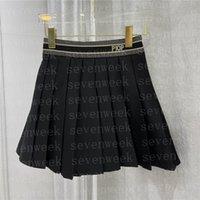 Designer Buchstaben Frauen Gurtband Falten Röcke Kleidung High Grad Damen Kleid Für Party Nachtclub