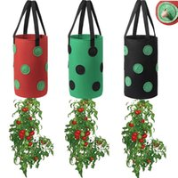 Planters & Pots 12 Holes Strawberry Grow Bag Outdoor Vertical Hanging For Garden Greenhouse 1Pc Vegetable Potato Plant Growth Bags