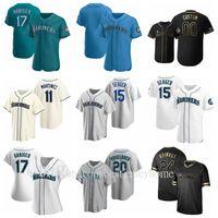 새로운 야구 51 Suzuki Ichiro Jersey 24 Ken Griffey 11 Edgar Martinez 34 Felix Hernandez Alex Rodriguez Men 레이디 청소년 FlexBase 멋진베이스
