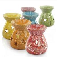 Kreativ aromaterapi spis keramik oljelampor ihåliga stjärnor månmönster eterisk olja doft ljus rökelse brännare 1353 v2