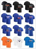 NCAA Florida Gators T-shirts 100% The Swamp Ciudad de Algodón Paño de Algodón Cuello Redondo Cuello Colegio Coloque Campus Tee TEE ROYAL BLACK MENS SIZE S-XXXLLL
